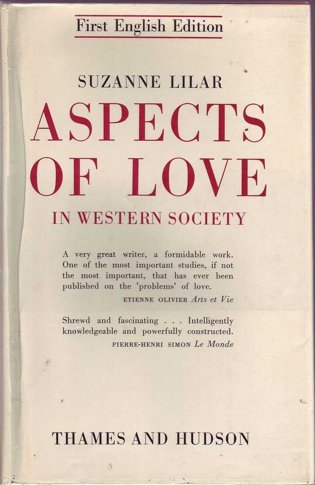 Suzanne-Lilar-ASPECTS-OF-LOVE-IN-WESTERN-SOCIETY-1st-Ed-HC-Book