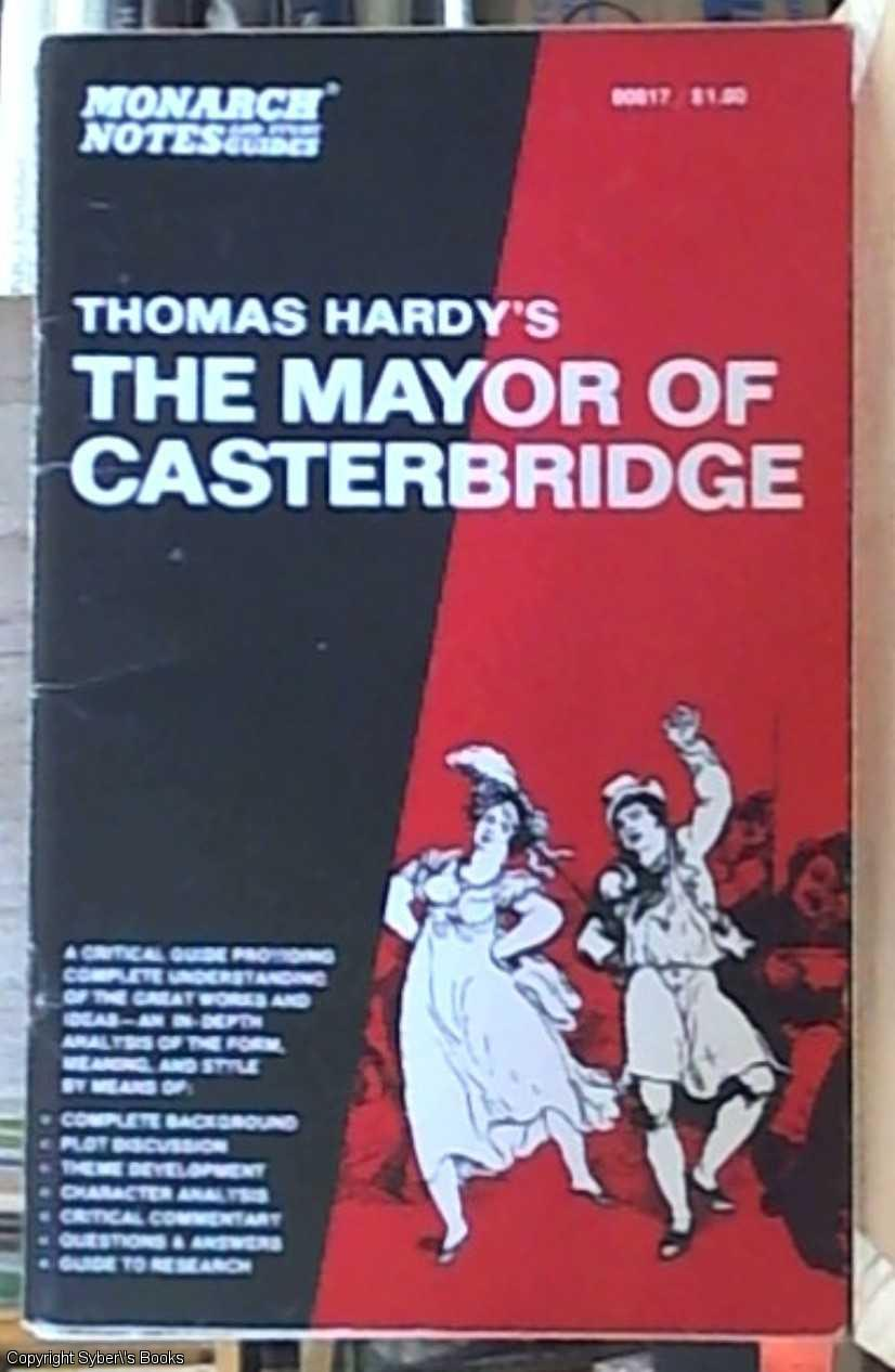 essays mayor casterbridge thomas hardy Free essay: the mayor of casterbridge by thomas hardy thomas hardy wrote the novel 'the mayor of casterbridge' in 1886 two of the main characters, donald.