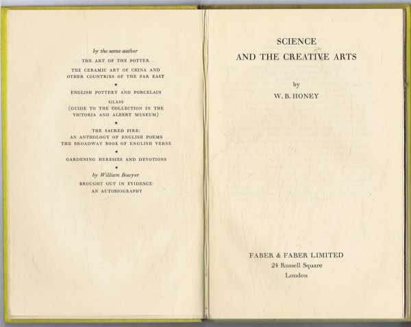 Image for Science and the Creative Arts