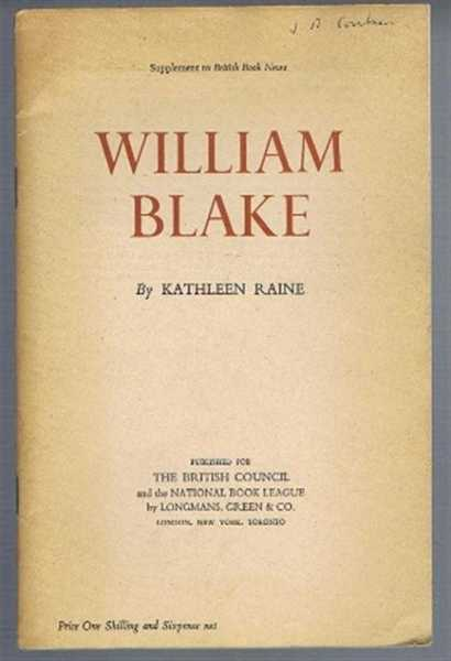 Image for William Blake, Supplement to Book News