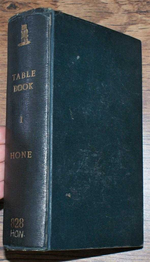 The Table Book, Volume I, William Hone