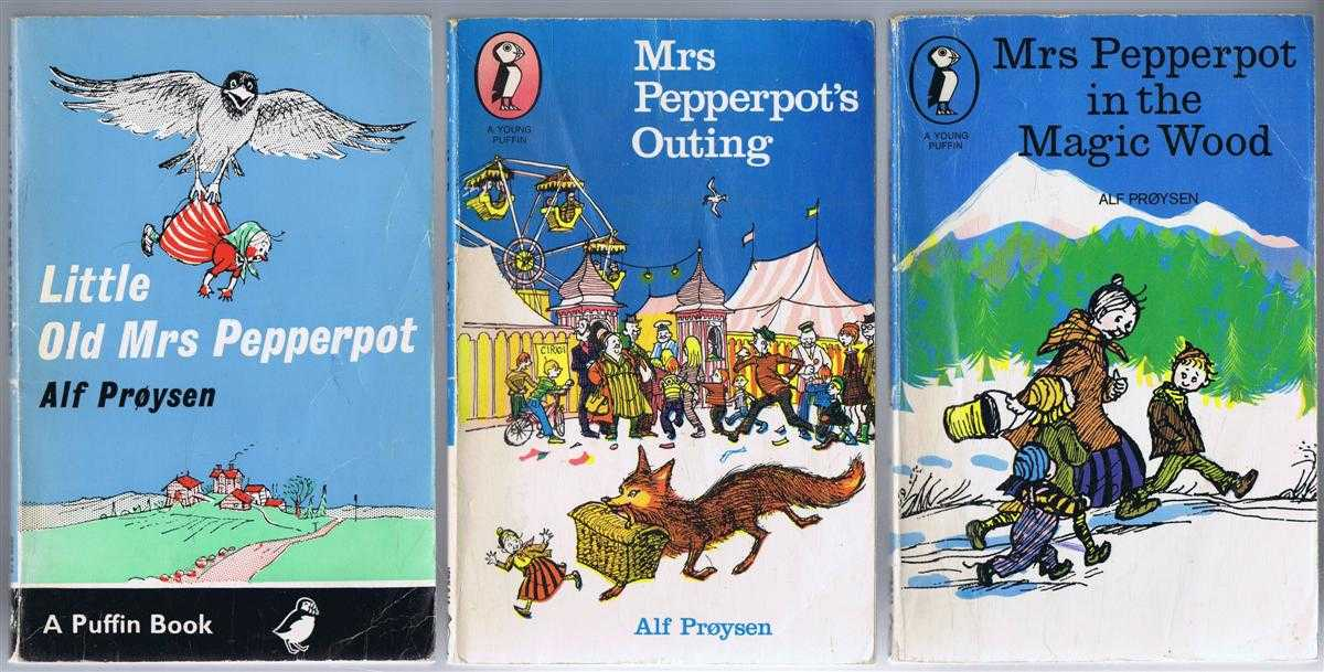 Little Old Mrs Pepperpot; Mrs Pepperpot's Outing; Mrs Pepperpot in the Magic Wood. 3 separate volumes, Alf Proysen, translated by Marianne Helweg