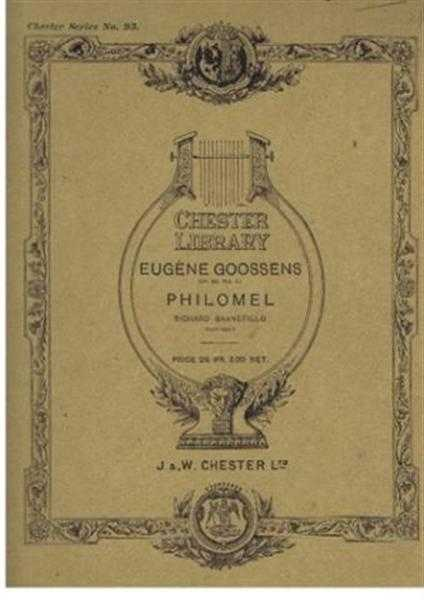 Philomel. Op. 26, No. 3, Eugene Goossens (music), words by Richard Barnefield