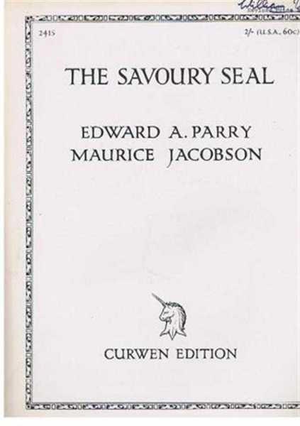 The Savoury Seal, Poem from Katawampus, Poem by Edward A Parry, music by Maurice Jacobson