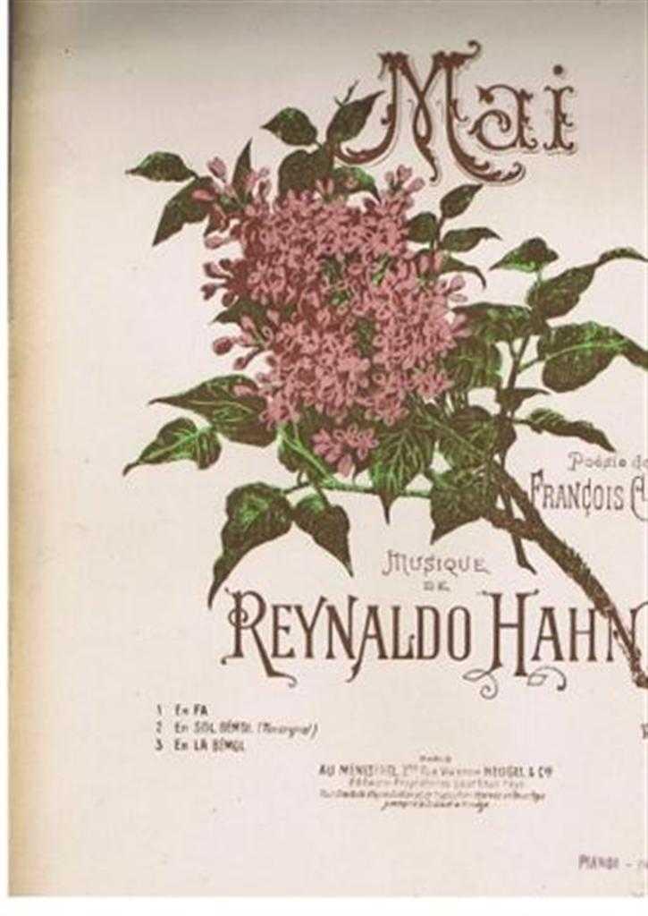 Mai, No. 1 En Fa, Musique de Reynaldo Hahn, Poesie de Francois Coppee