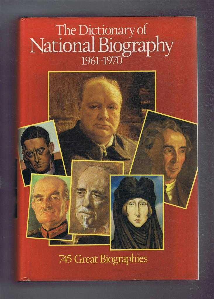 Image for The Dictionary of National Biography 1961-1970. With an Index covering the years 1901-1970 in one alphabetical series