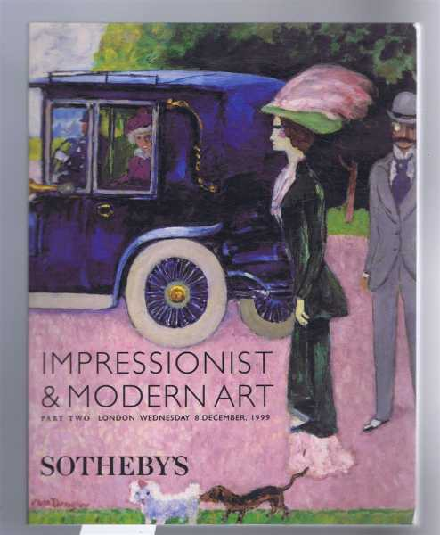 Image for Impressionist & Modern Art, Part Two, Sotheby's, London, Wednesday 8 December 1999