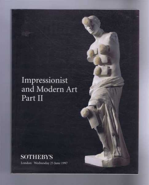 Image for Impressionist & Modern Art, Part II, Sotheby's, London, Wednesday 25 June 1997