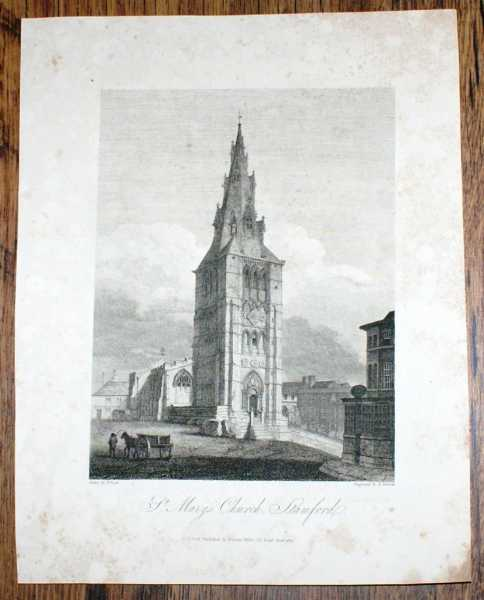 Image for Disbound Single Plate of St. Mary's Church, Stamford from Bartholomew Howlett's Selection of Views in the County of Lincoln