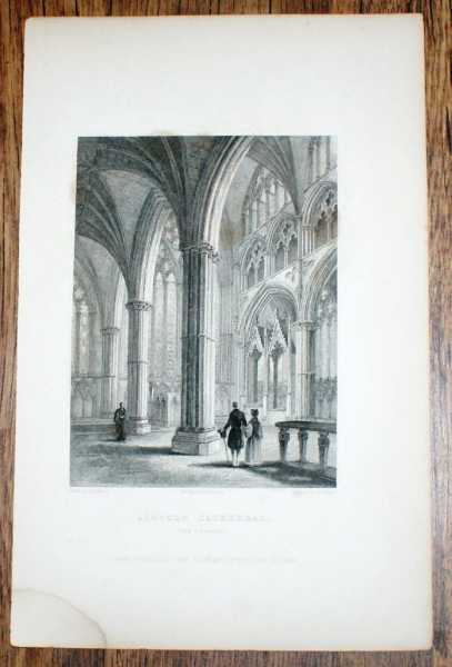 Image for Disbound Engraving of the Chancel at Lincoln Cathedral, from Winkles's Architectural and Picturesque Illustrations of the Catherdral Churches of England and Wales Vol. II