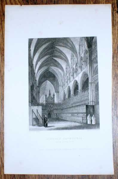 "Image for Disbound Engraving of Lincoln Cathedral ""Choir Looking West"", from Winkles's Architectural and Picturesque Illustrations of the Catherdral Churches of England and Wales Vol. II"
