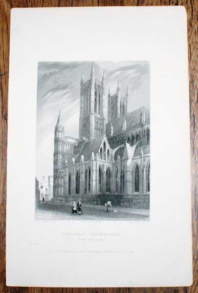 "Image for Disbound Engraving of Exterior of Lincoln Cathedral ""South West Angle"", from Winkles's Architectural and Picturesque Illustrations of the Catherdral Churches of England and Wales Vol. II"