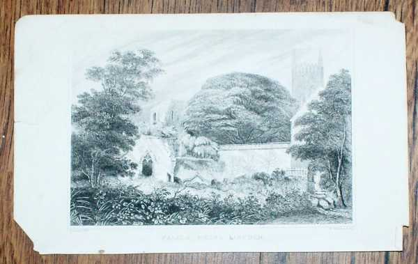 """Image for Disbound Engraving of """"Palace Ruins Lincoln"""" (Medieval Bishop's Palace)"""