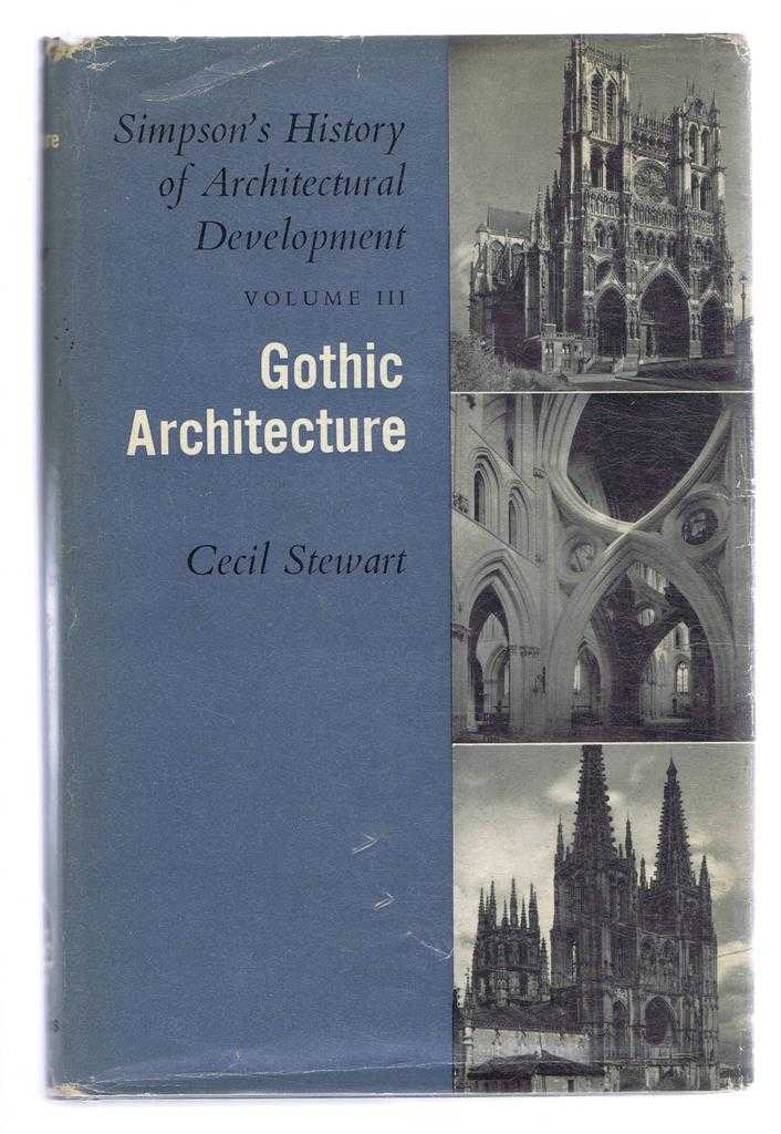 Image for Gothic Architecture, Simpson's History of Architectural Development, Vol. III