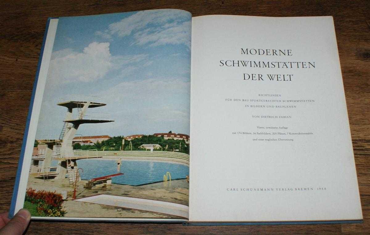 Image for Moderne Schwimmstaetten der Welt (Modern Swimming Pools of the World). Richtlinien fuer den Bau sportgechter Scwimmstaetten in Bildern und Bauplaenen
