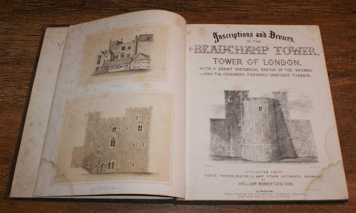 Image for Inscriptions and Devices in the Beauchamp Tower, Tower of London; With a Short Historical Sketch of the Building and the Prisoners formerly Confined Therein