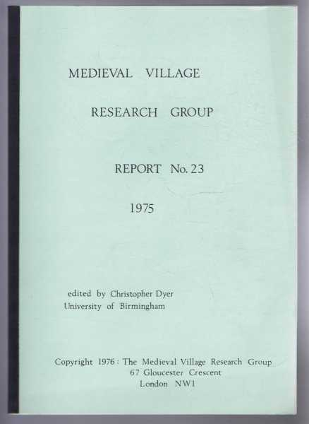 Image for Medieval Village Research Group, Report No. 23 1975