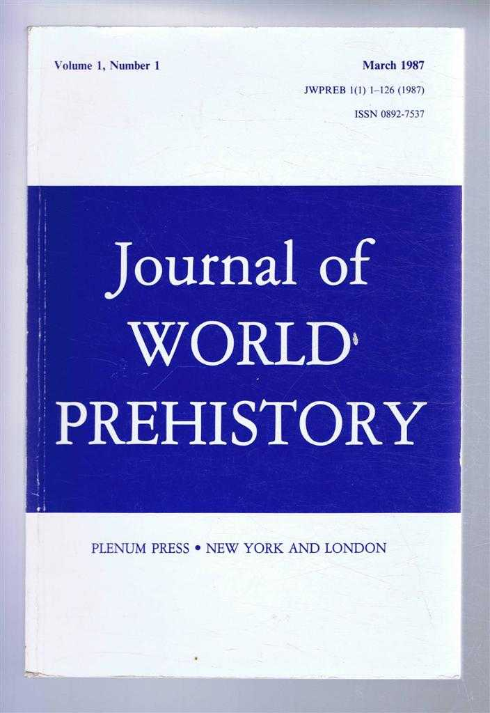 Image for Journal of World Prehistory, Volume 1, Number 1, March 1987
