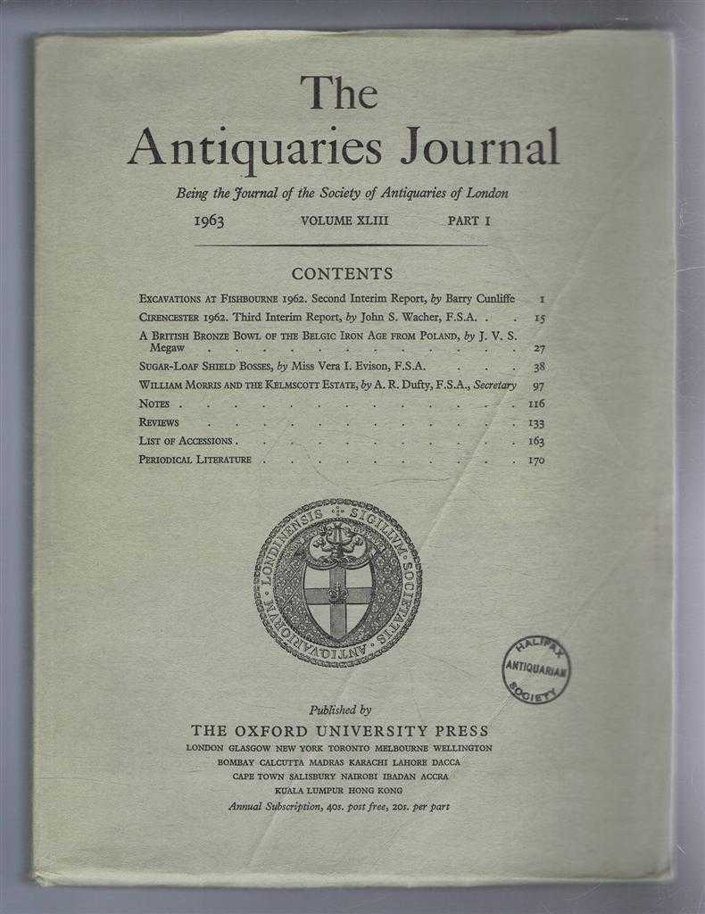 Image for The Antiquaries Journal, Being the Journal of The Society of Antiquaries of London, Volume XLIII, 1963, Part I