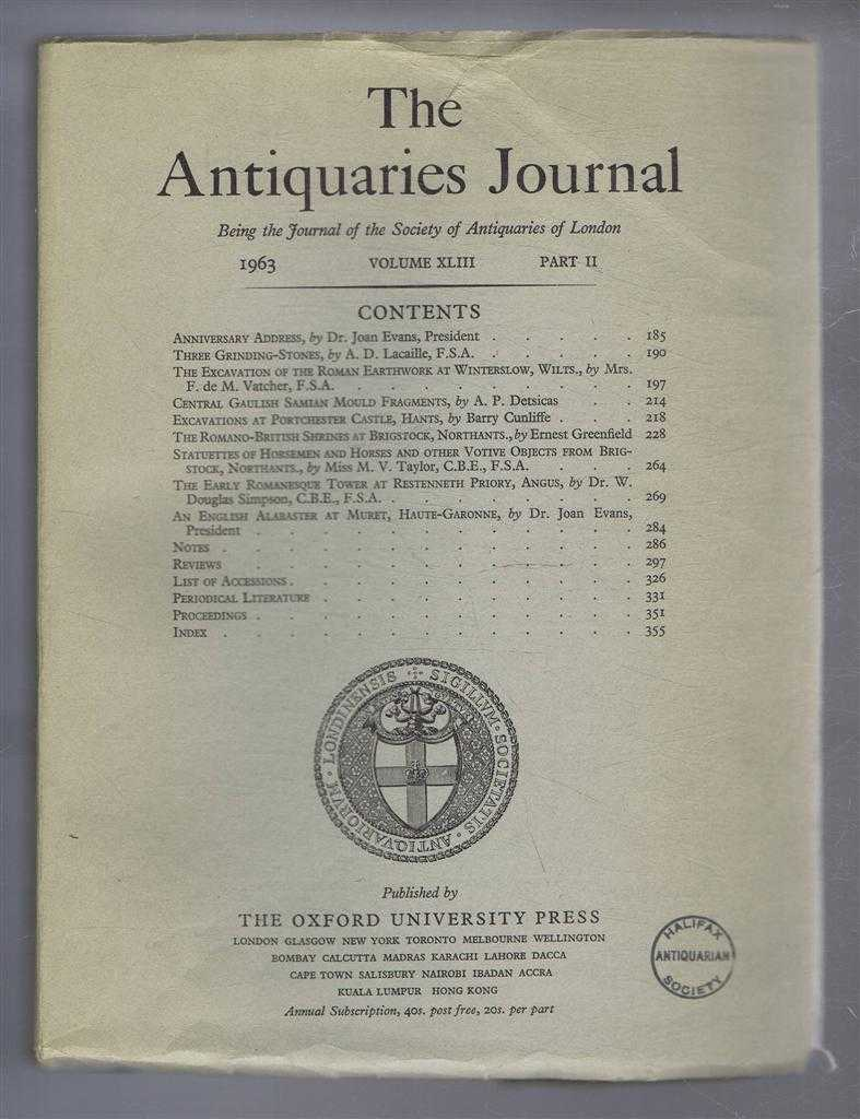 Image for The Antiquaries Journal, Being the Journal of The Society of Antiquaries of London, Volume XLIII, 1963, Part II