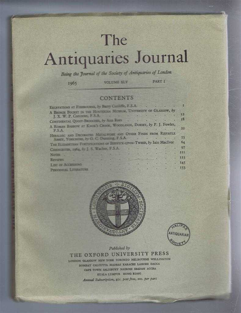 Image for The Antiquaries Journal, Being the Journal of The Society of Antiquaries of London, Volume XLV, 1965, Part I
