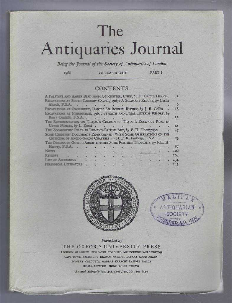 Image for The Antiquaries Journal, Being the Journal of The Society of Antiquaries of London, Volume XLVIII, 1968, Part I