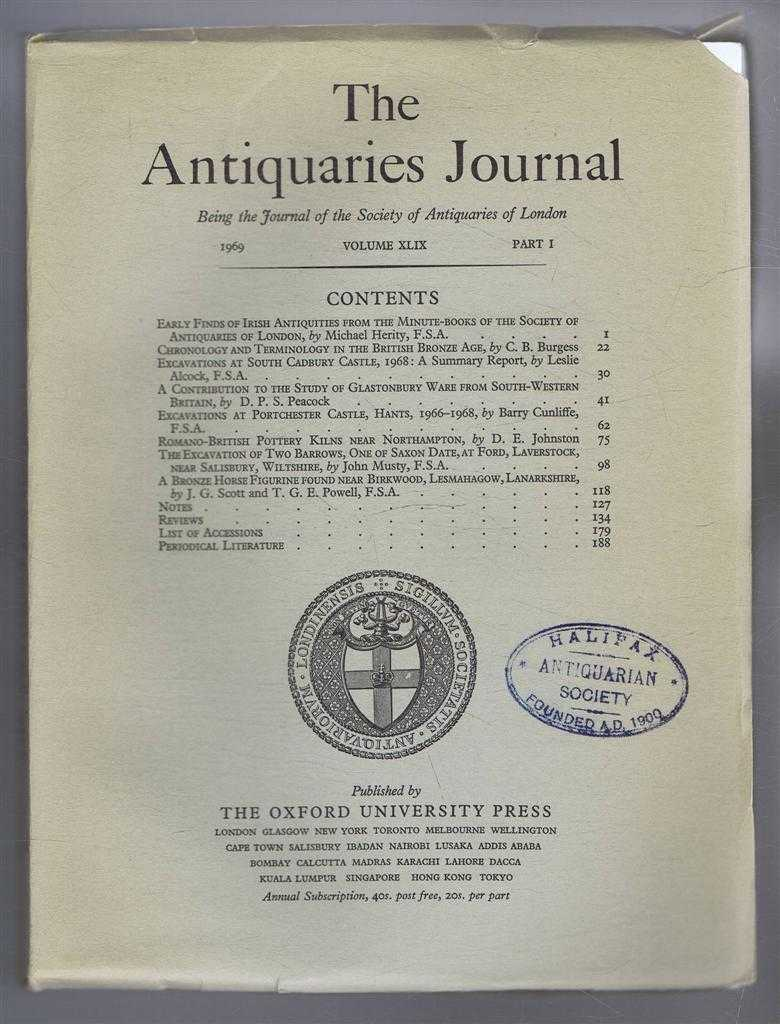 Image for The Antiquaries Journal, Being the Journal of The Society of Antiquaries of London, Volume XLIX, 1969, Part I