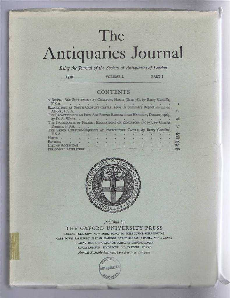 Image for The Antiquaries Journal, Being the Journal of The Society of Antiquaries of London, Volume L, 1970, Part I