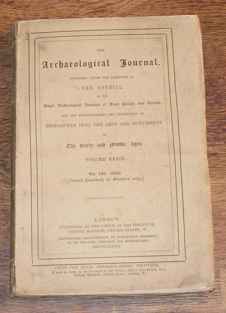 Image for The Archaeological Journal, Volume XXXIX, No. 156, December 1882. For Researches into the Early and Middle Ages