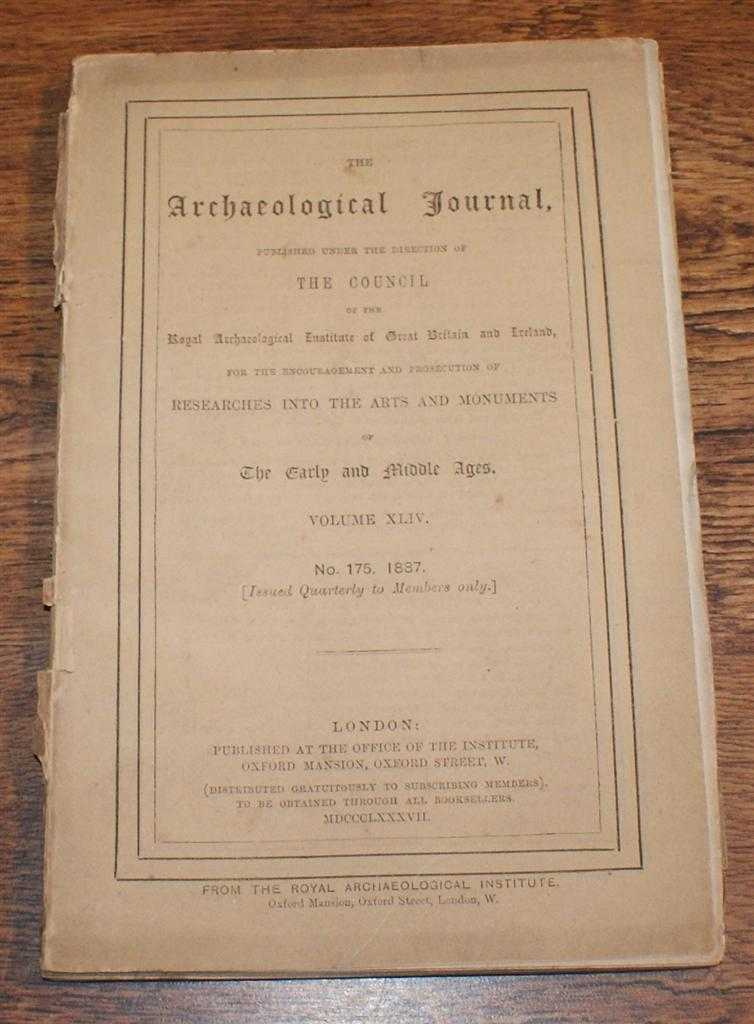 Image for The Archaeological Journal, Volume XLIV, No. 175, September 1887. For Researches into the Early and Middle Ages