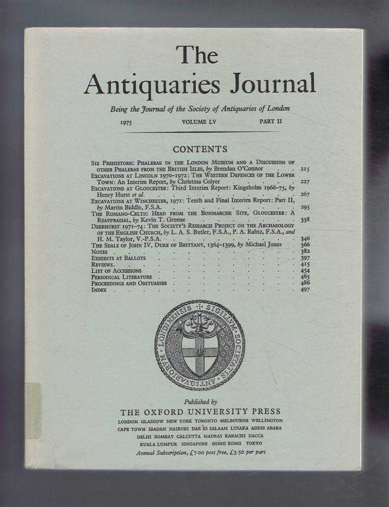 Image for The Antiquaries Journal, Being the Journal of the Society of Antiquaries of London, Vol LV, Part II, 1975