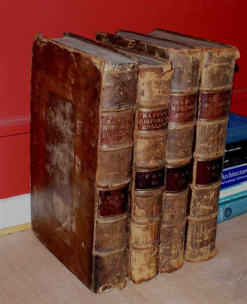 The History of England, (2 vols), with the Continuation from the Revolution to the Accession of King George II, Summary and Lists, (2 vols), Mr. Rapin de Thoyras, N. Tindal