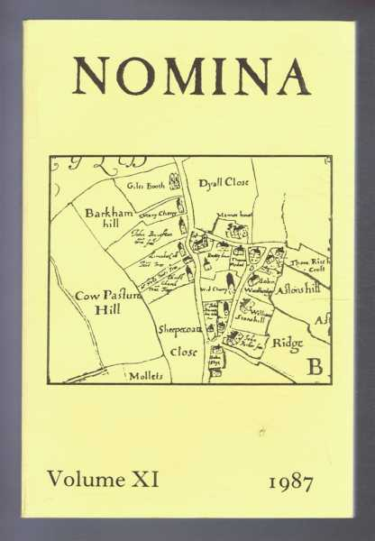 Image for Nomina. Vol. XI (11) - 1987, A journal of name studies relating to Great Britain and Ireland