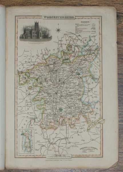 1839 Map of the County of Worcestershire - taken from Pigot and Co's British Atlas Comprising the Counties of England (upon which are laid down all railways completed and in progress), Pigot and Co