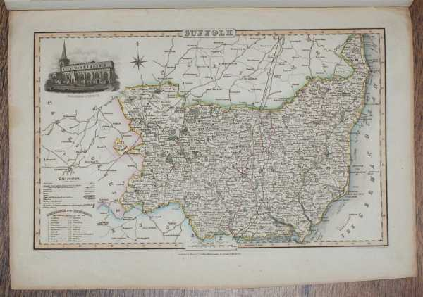Image for 1839 Map of the County of Suffolk - taken from Pigot and Co's British Atlas Comprising the Counties of England (upon which are laid down all railways completed and in progress)
