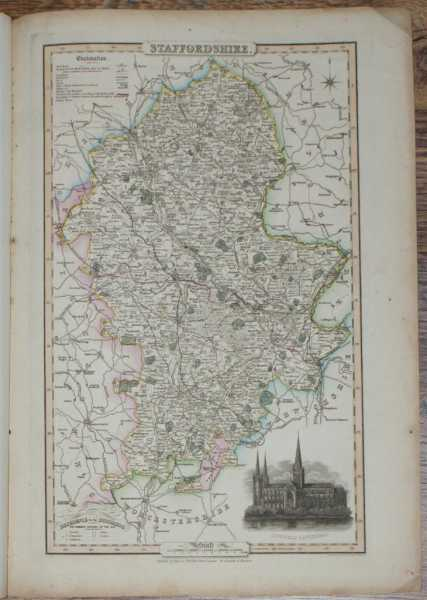 1839 Map of the County of Staffordshire - taken from Pigot and Co's British Atlas Comprising the Counties of England (upon which are laid down all railways completed and in progress), Pigot and Co