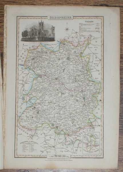 1839 Map of the County of Shropshire - taken from Pigot and Co's British Atlas Comprising the Counties of England (upon which are laid down all railways completed and in progress), Pigot and Co