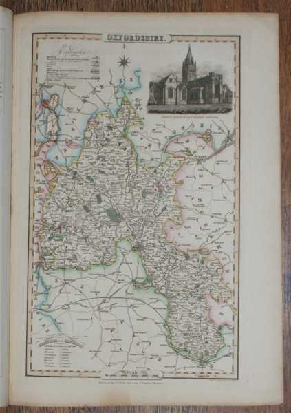 1839 Map of the County of Oxfordshire - taken from Pigot and Co's British Atlas Comprising the Counties of England (upon which are laid down all railways completed and in progress), Pigot and Co