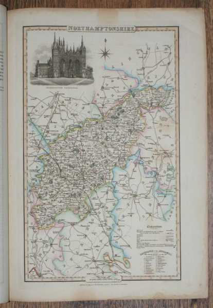1839 Map of the County of Northamptonshire - taken from Pigot and Co's British Atlas Comprising the Counties of England (upon which are laid down all railways completed and in progress), Pigot and Co
