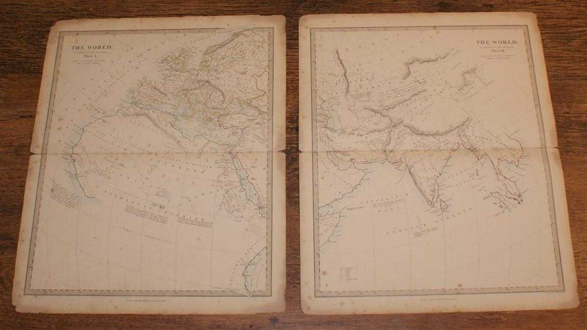 Image for Map of The World as known to the Ancients - in Two Sheets