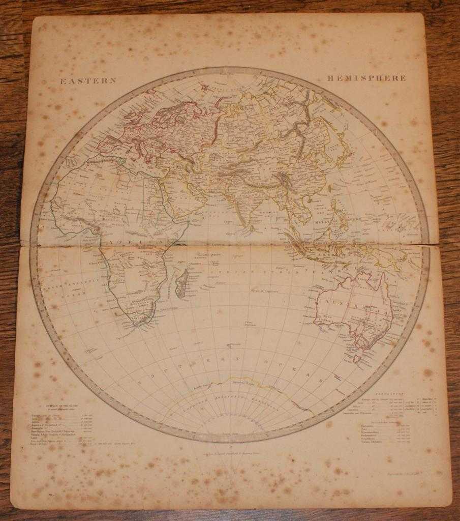 "Map of the Eastern Hemisphere - disbound sheet from 1857 ""University Atlas"", Edward Stanford, J. & C. Walker"