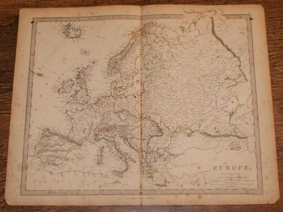 """Image for Map of Europe - disbound sheet from 1857 """"University Atlas"""""""