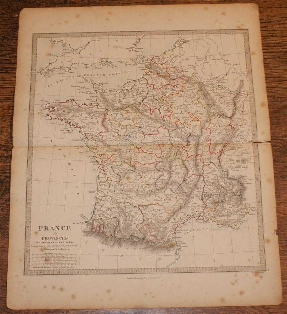"""Image for Map of France in Provinces - disbound sheet from 1857 """"University Atlas"""""""
