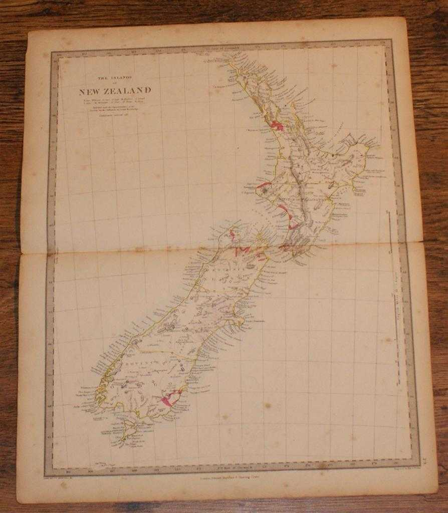 """Image for Map of New Zealand - disbound sheet from 1857 """"University Atlas"""""""
