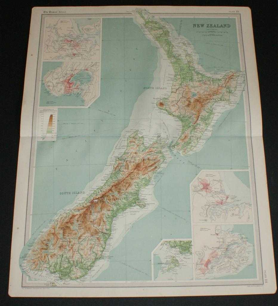Image for Map of New Zealand from the 1920 Times Survey Atlas (Plate 111)