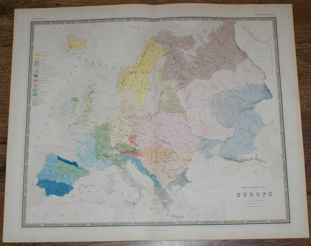 Ethnographic Map of Europe according to Dr. Gustaf Kombst F.R.N.C., M.H.S.P.S., &c., Alexander Keith Johnston