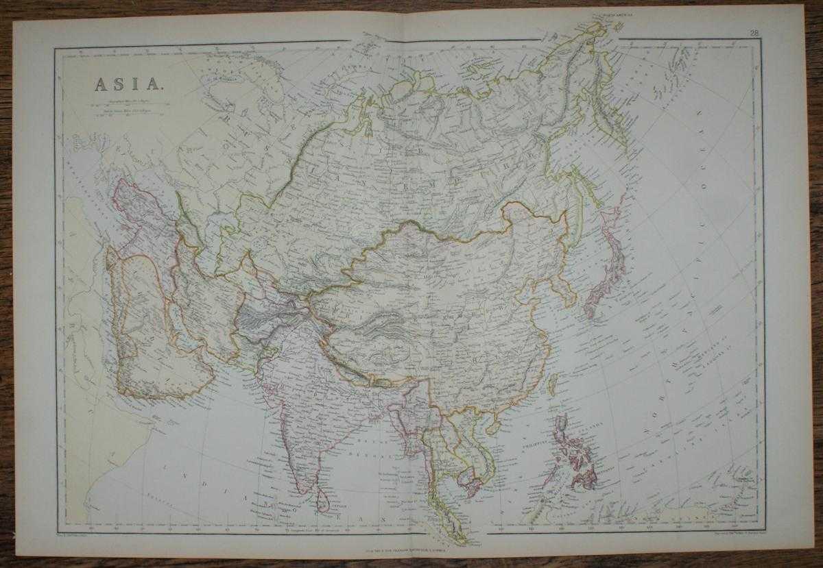 1884 Blackie's Map of Asia, W. G. Blackie