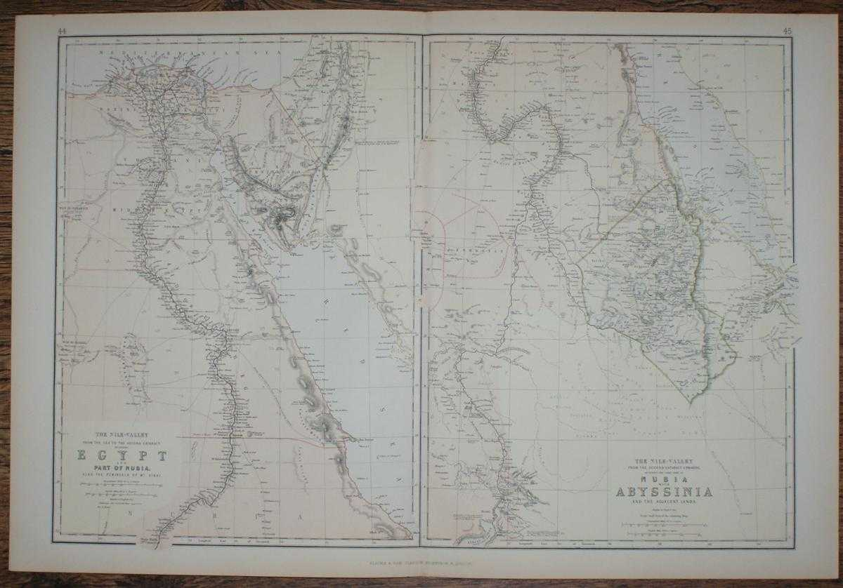 Image for 1884 Blackie's Maps of The Nile Valley - Egypt, Nubia & Abyssinia