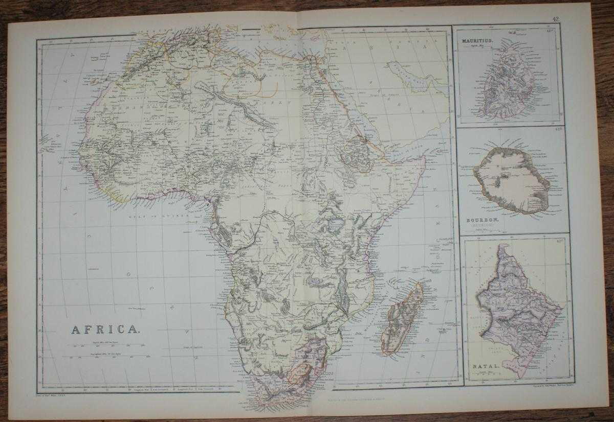 Image for 1884 Blackie's Map of Africa