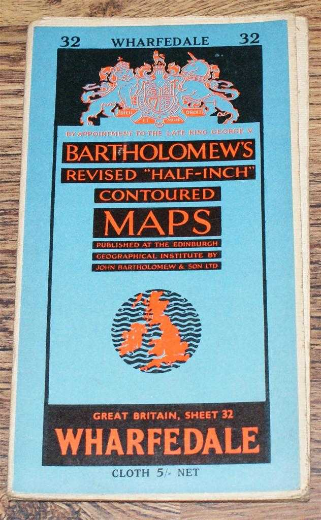 "Image for Wharfedale - Bartholomew's Revised ""Half-Inch"" Contoured Maps, Great Britain Sheet 32"